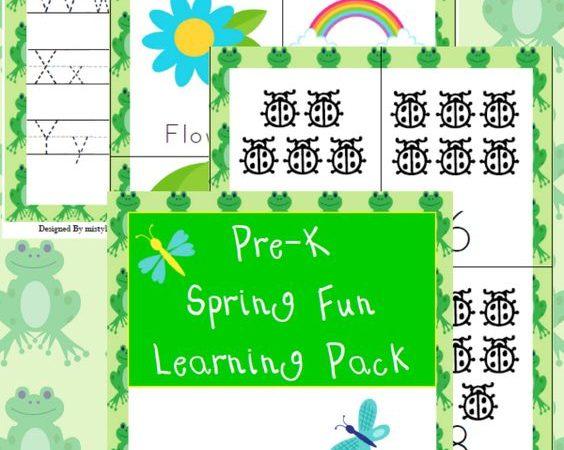 Spring PreK Learning Pack