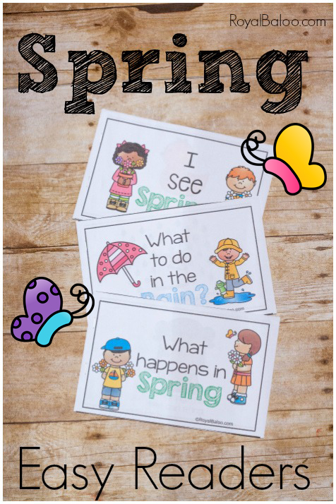 My young readers love being able to mix things up a bit. These Simple Spring Early Readers are perfect for this time of year! :: www.thriftyhomeschoolers.com