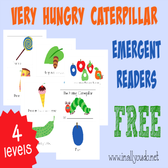 With these fun and FREE Hungry Caterpillar Emergent Readers, young readers can gain confidence as well as have fun celebrating March 20th! They come in 4 different levels, which is perfect for young readers! :: www.thriftyhomeschoolers.com