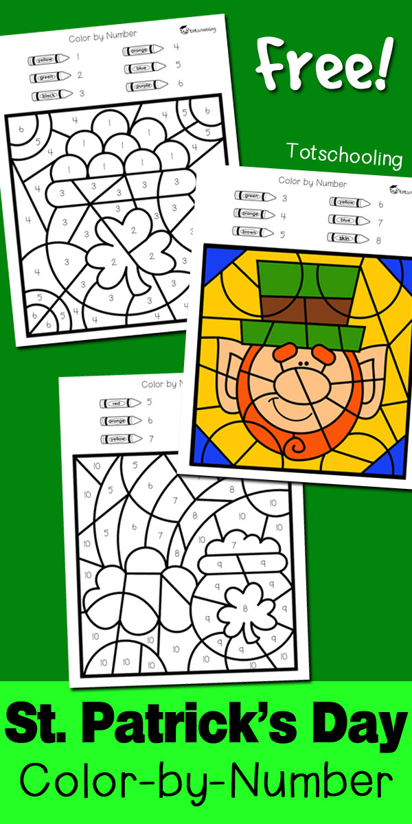 "Color-by-Number pages are great to help little ones recognize and learn their numbers, follow directions, color in the lines and even seeing the ""bigger"" picture of the finished product. These adorable St. Patrick's Day themed pages are perfect for added fun to your celebrations! :: www.thriftyhomeschoolers.com"