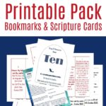Free 10 Commandments Bookmark & Scripture Cards