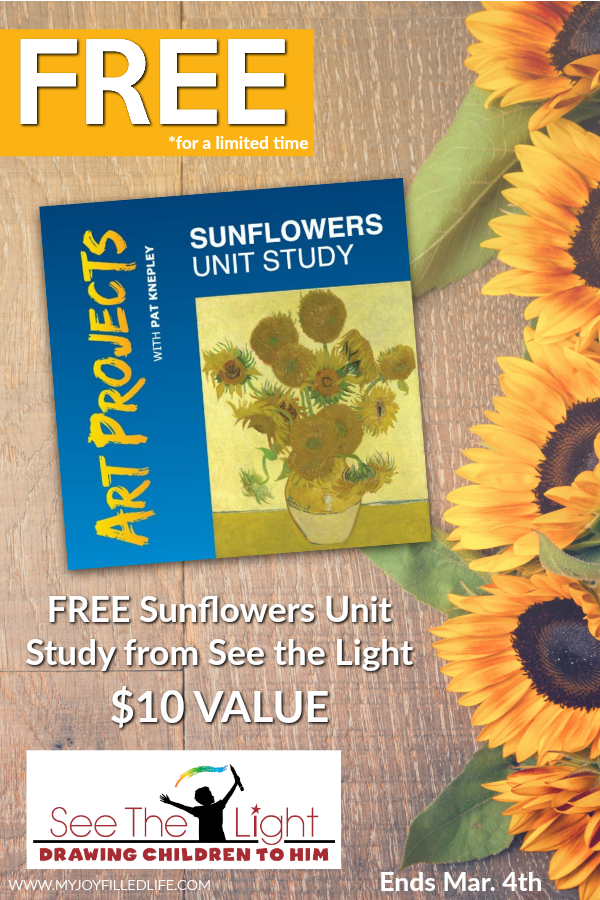 Whether your children love doing art projects or you want to add some extra fine arts into your homeschool, don't miss this LIMITED TIME FREEBIE of the Sunflowers Unit Study. Hurry...offer ends March 4th, 2018! :: www.thriftyhomeschoolers.com