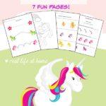 FREE Unicorns Preschool Pack