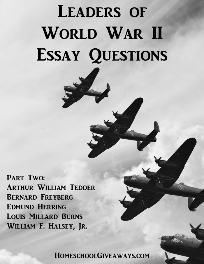 If you're studying and learning about World War II, you know there is so much information out there. Use these Free Essay Questions to help them process the information about five leaders. :: www.thriftyhomeschoolers.com