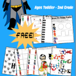 Superhero Worksheets Freebie (Tot-2nd)