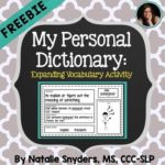 Free Printable My Personal Dictionary