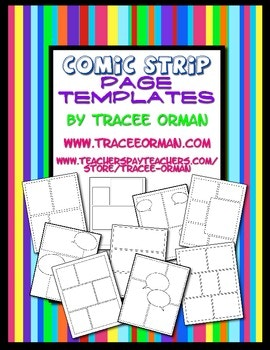 If you have a reluctant writer, try these fun Comic Strip Templates to help get their creative juices flowing! They're perfect for unit studies, a biography for an author or historical figure, or a creative book report! :: www.thriftyhomeschoolers.com
