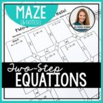 Free Two-Step Equations Notes & Maze Activity