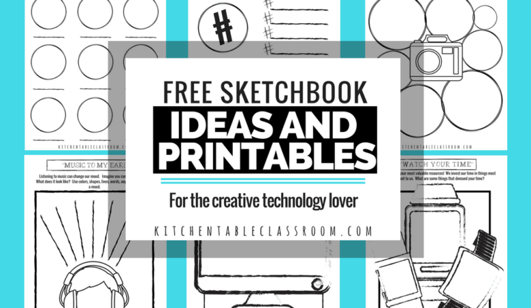 FREE Technology Lover Sketchbook Ideas & Printables