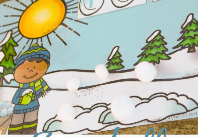Free Winter Snowball Addition Activity