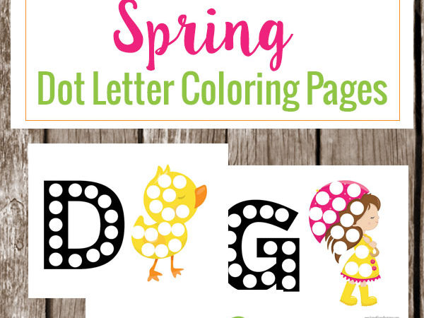 FREE Spring Dot Letter Pages