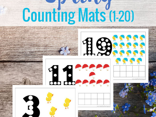 Spring Counting Mats Freebie