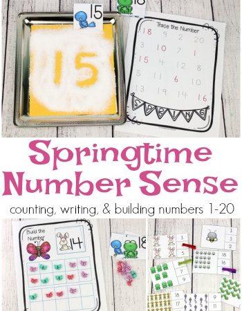 FREE Springtime Number Sense Printables
