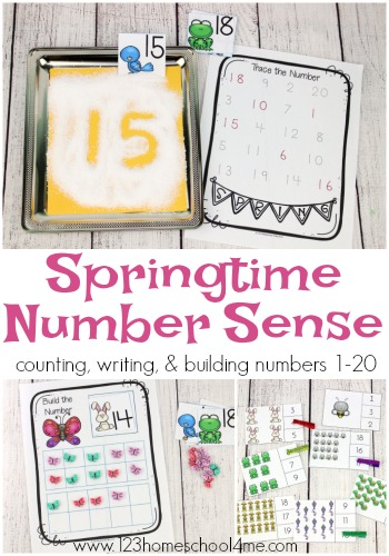 If your little ones are working on recognizing their numbers and counting, they are sure to love these fun printables! This adorable set of Springtime Number Sense printables is perfect for learning, practicing and reviewing numbers! :: www.thriftyhomeschoolers.com