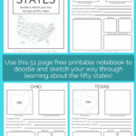 FREE Sketch the 50 States Printable Book