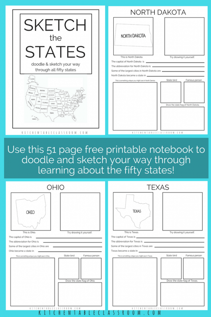 This printable book combines notebooking and art with geography to help make the journey through the 50 states more fun and memorable. :: www.thriftyhomeschoolers.com