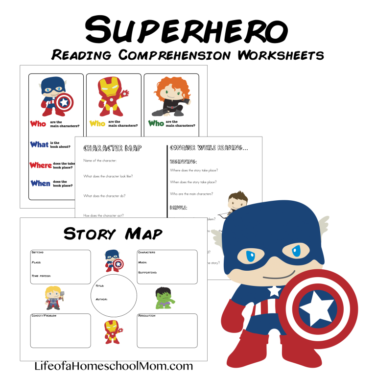 Make reading more fun with these FREE Superhero Reading Comprehension Worksheets! These can be used with any reading selection and level to add some fun to the assignment. :: www.thriftyhomeschoolers.com