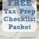 Tax Prep Checklist Freebie