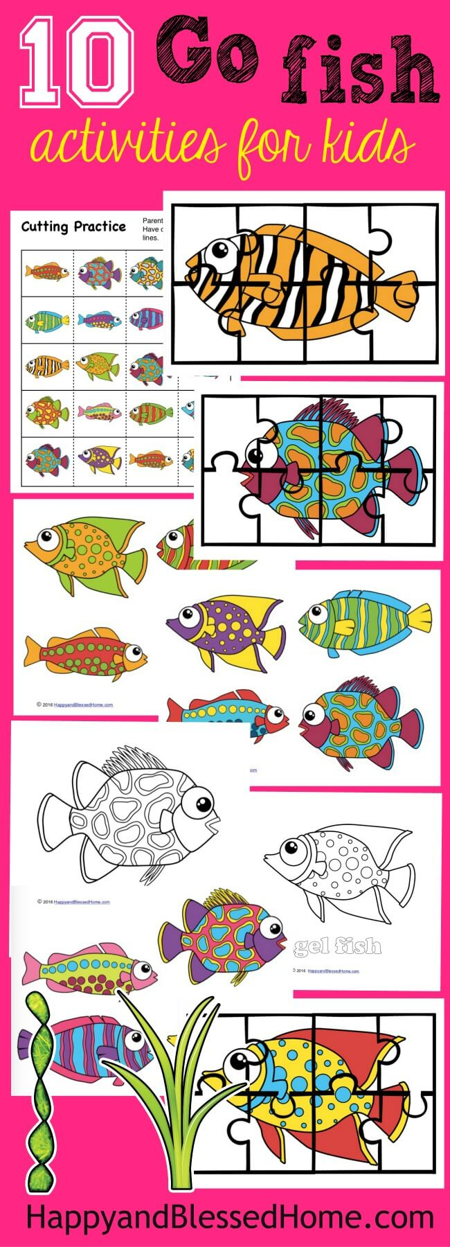 """Do your kids love playing """"Go Fish""""? Whether they are just learning how to play the game or have loved it for a while, this printable Go Fish Activity Pack is sure to be a hit! :: www.thriftyhomeschoolers.com"""