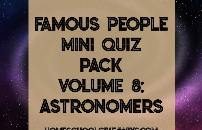 Famous Astronomers Mini Quiz Pack