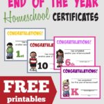 FREE End of the Homeschool Year Certificates