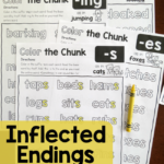 FREE Color the Chunk – Inflected Endings