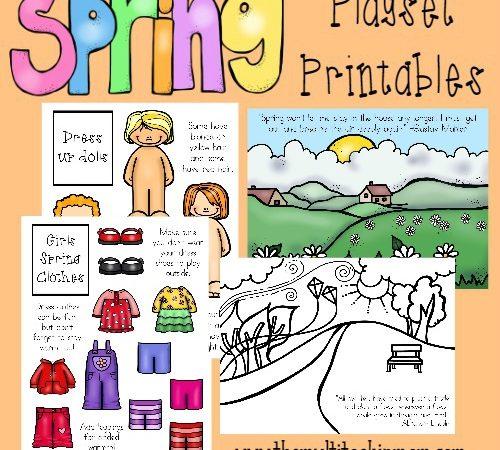 Printable Spring Playset Freebies