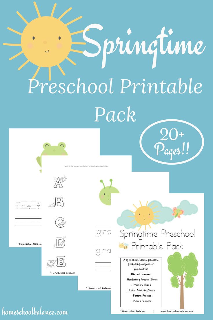 Are you looking for a super cute spring printable for your preschooler? Check out this freebie with over 20 pages, including handwriting, a memory game, pattern practice and more! :: www.thriftyhomeschoolers.com