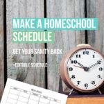 Editable Homeschooling Schedule