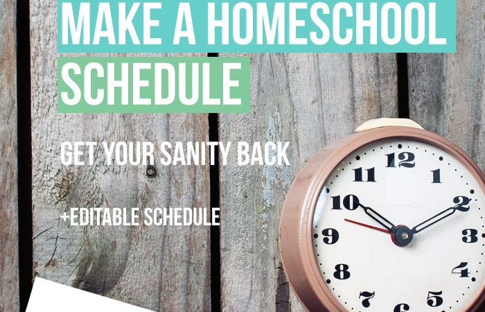 Editable Homeschooling Schedule