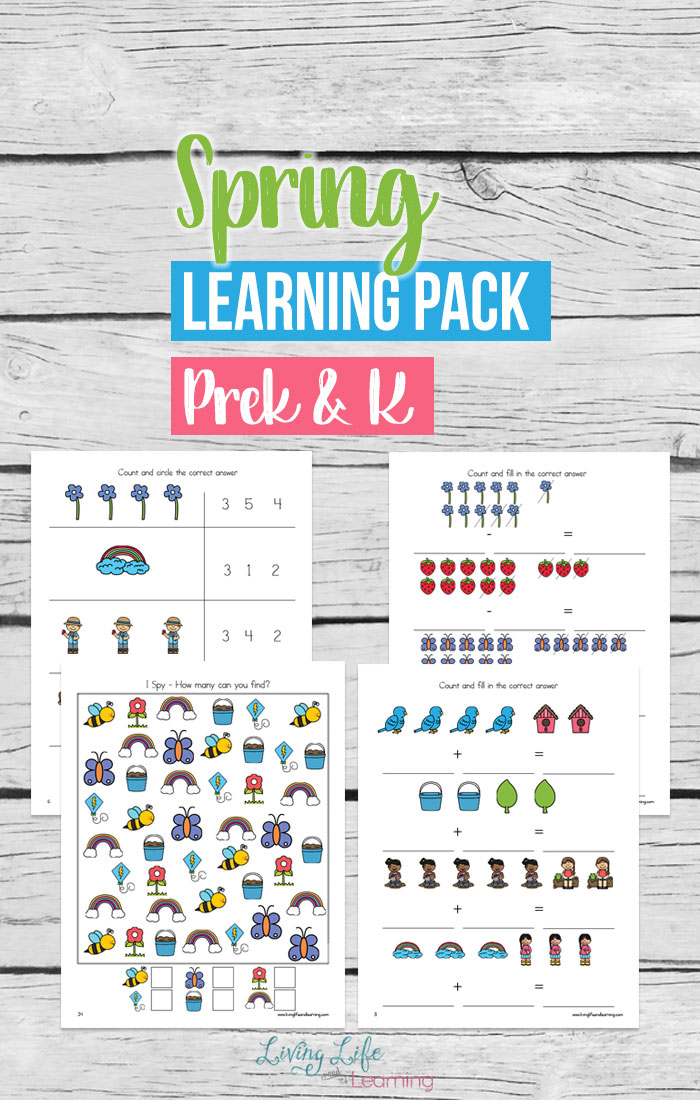 Spring is here which means it is time to pull out those Spring learning activities. This Spring learning pack is a perfect start for your young learners. Included arecounting, addition and subtraction worksheets, patterning, number puzzles and writing activities that are perfect for spring for your preschoolers and kindergarten students.