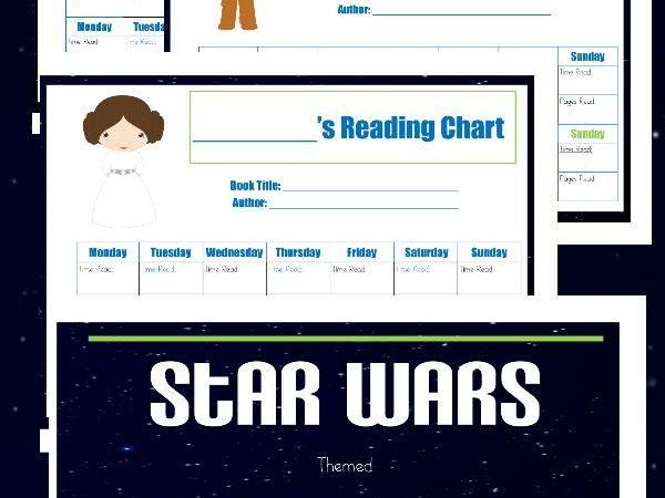 Star Wars Reading Chart