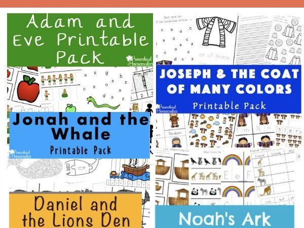 Bible Story Printable Freebie Bundle!