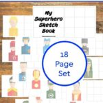 Printable Superhero Books ~ Sketch Book Edition