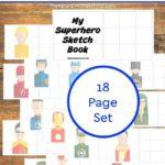 Printable Superhero Books ~ Sketch Book Edition