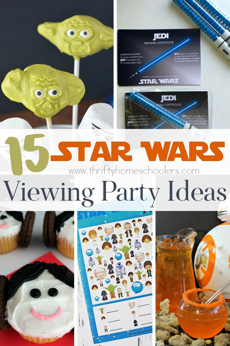Are you a Star Wars fan? Are your kids? Why not make the most of the newest movie and set up a Star Wars Viewing Party with these great ideas! :: www.thriftyhomeschoolers.com