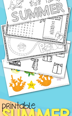 Summer Kids Activity Sheets