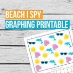Beach I Spy Graphing Printable