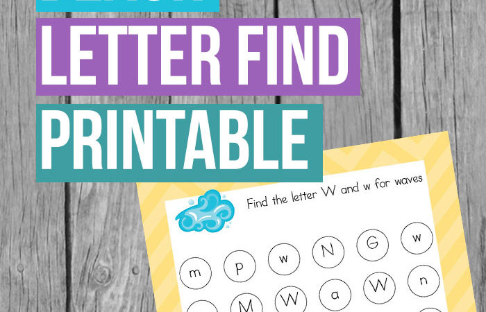 Beach Letter Find Printable