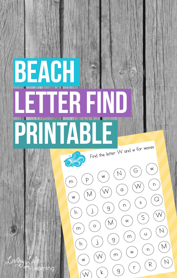 Children love all things beach related so why not bring the beach party into the classroom. This beach letter find printable is perfect for adding to your beach theme and helping your children remember their letters!