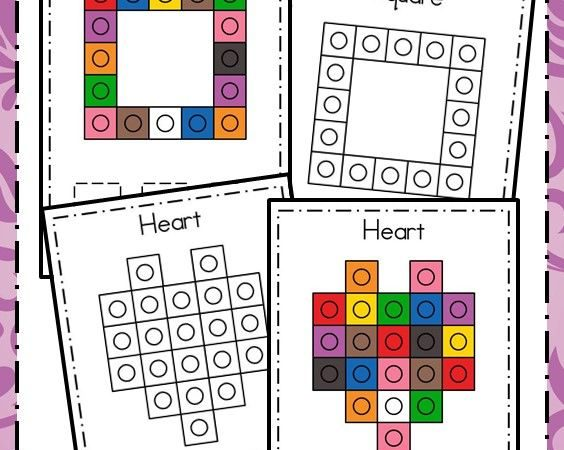 Snap Cube Shapes – Hands-on Math Activity for Shape Identification