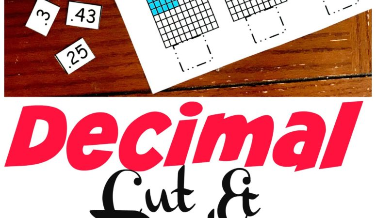 3 Hands-On Decimal Place Value Worksheets