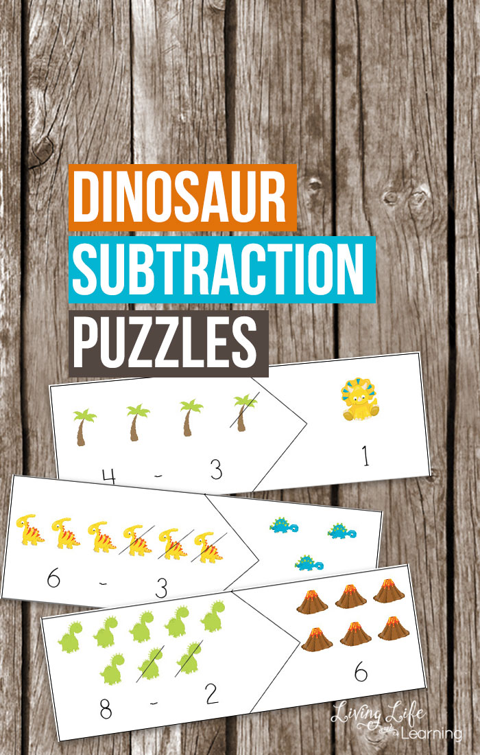 Do you have a young dinosaur fan? Your young paleontologist in the making is going to love these dinosaur themed math puzzles.