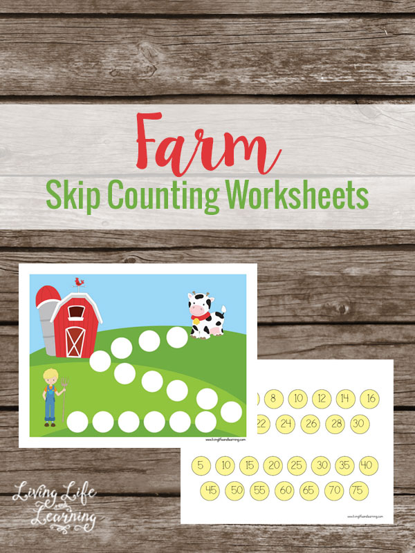 This Farm Skip Counting Math Worksheet set is fun for kids and extremely helpful for working with skip counting. This is a traditional kindergarten or 1st grade skill to be developed. If your kids need extra push, try these Farm Skip Counting Math Worksheets!