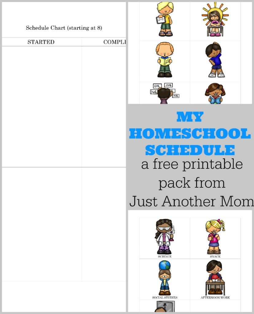 When you have your day posted with pictures it really can help children to stay on task because they know what is coming next no matter their reading level! This homeschool day printable helps you develop a schedule that is easy to understand!!