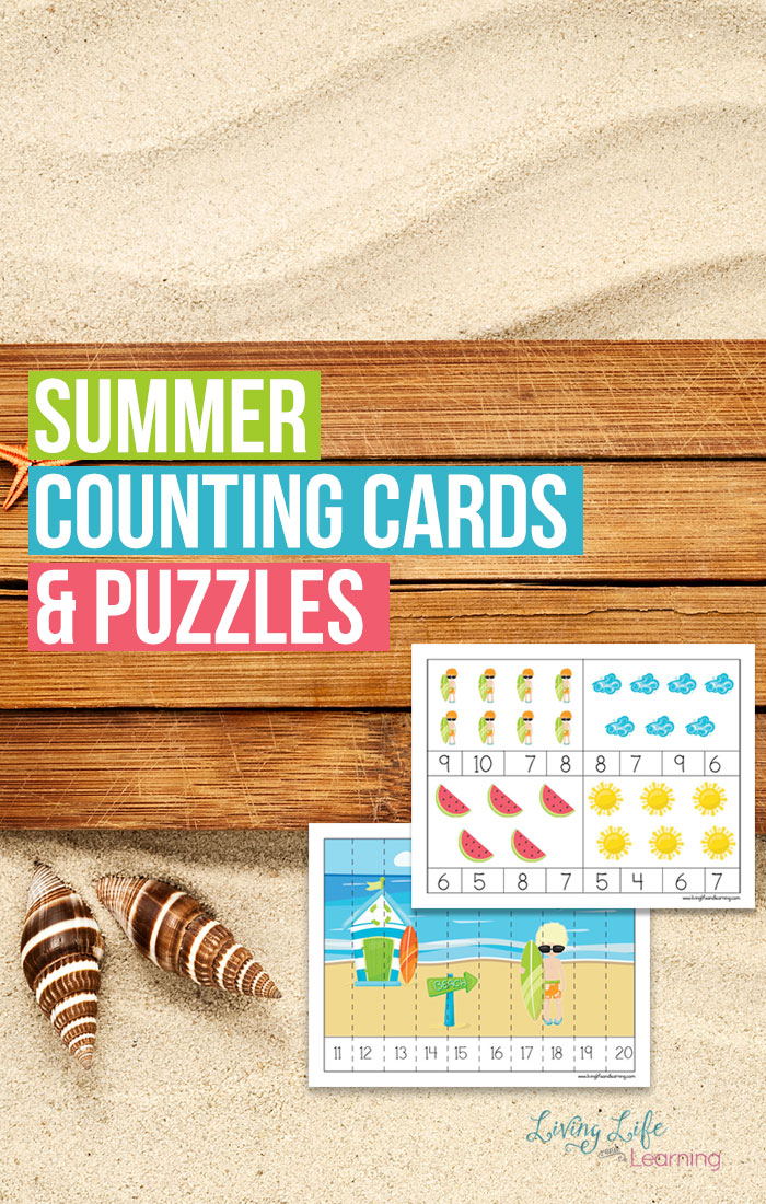 Now that summer is almost here it is time to get those summer resources together. These summer themed counting cards and puzzles are a must have. With this pack, you will receive 3 pages of counting cards up to 12 and the 4 pages of puzzles.