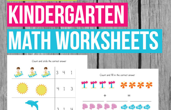 Summer Kindergarten Math Worksheets