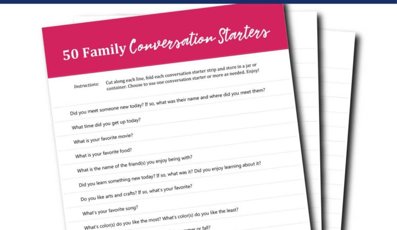 50 Family Conversation Starters