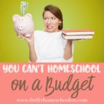 You Can't Homeschool on a Budget