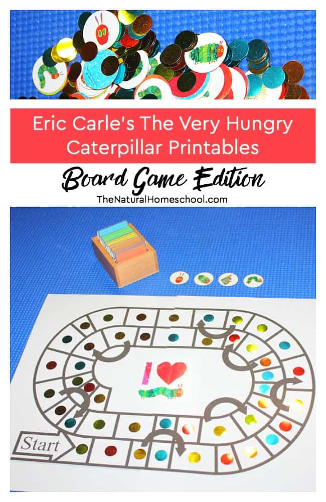 Kids will have a blast with this Very Hungry Caterpillar inspired printable board game! It is so much fun to play together as a family.